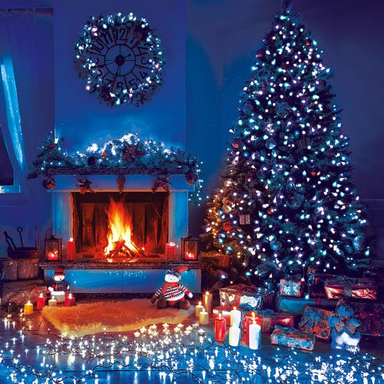 Фото №3 Праздничная гирлянда НИТЬ голубой 10м IP20 400-002