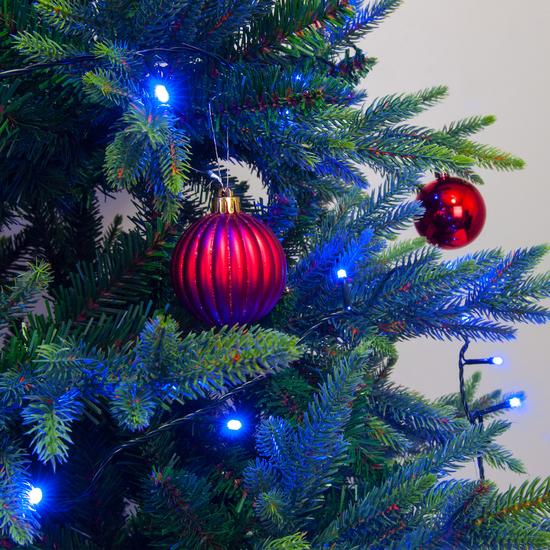 Фото №5 Праздничная гирлянда НИТЬ голубой 10м IP20 400-002