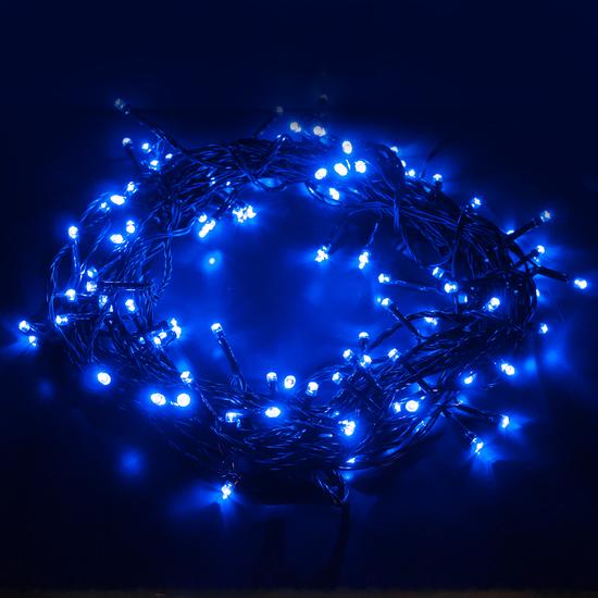 Фото №6 Праздничная гирлянда НИТЬ голубой 10м IP20 400-002