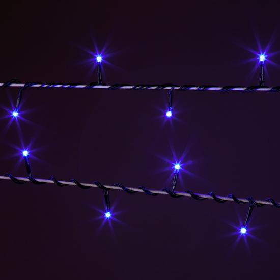 Фото №7 Праздничная гирлянда НИТЬ голубой 10м IP20 400-002