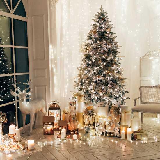 Фото №2 Праздничная гирлянда НИТЬ белый 10м IP20 400-002