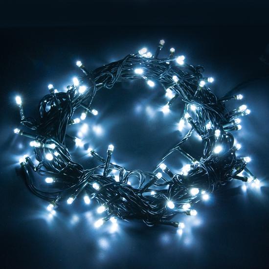 Фото №3 Праздничная гирлянда НИТЬ белый 10м IP20 400-002
