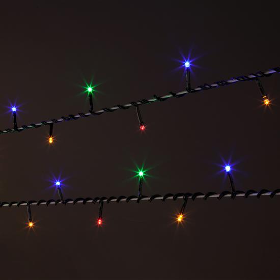 Фото №6 Праздничная гирлянда НИТЬ мульти 10м IP20 400-002