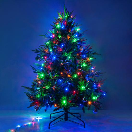 Фото №4 Праздничная гирлянда НИТЬ мульти 5м IP20 400-001