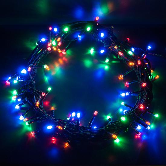 Фото №5 Праздничная гирлянда НИТЬ мульти 5м IP20 400-001