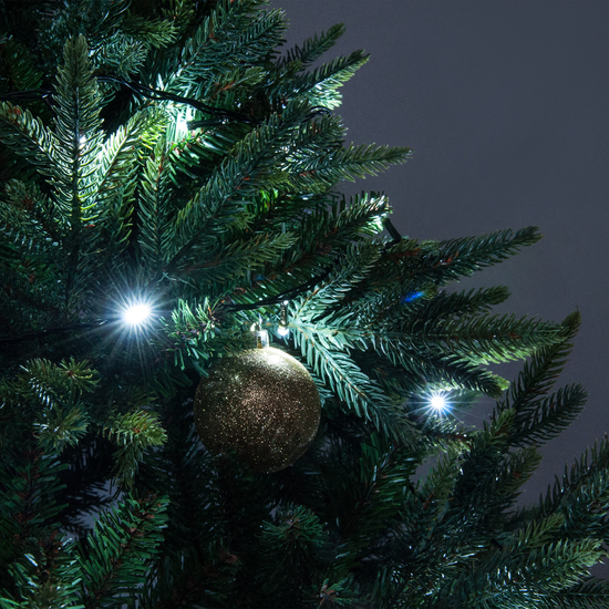 Фото №3 Праздничная гирлянда НИТЬ белый 5м IP20 400-001