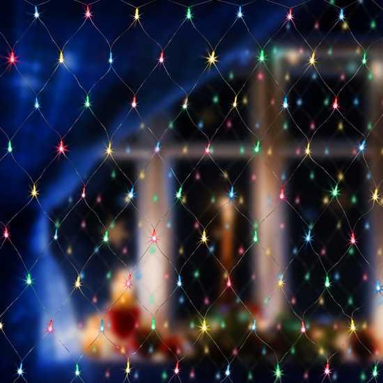 Фото №2 Праздничная гирлянда СЕТЬ мульти 1,5*1,5м IP20 300-001