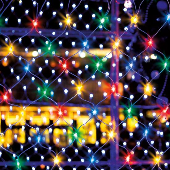 Фото №3 Праздничная гирлянда СЕТЬ мульти 1,5*1,5м IP20 300-001