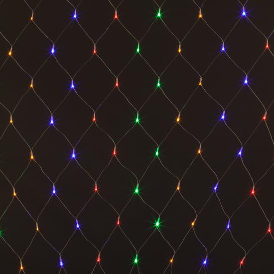 Фото №4 Праздничная гирлянда СЕТЬ мульти 1,5*1,5м IP20 300-001