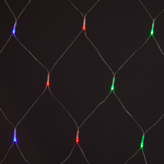 Фото №5 Праздничная гирлянда СЕТЬ мульти 1,5*1,5м IP20 300-001