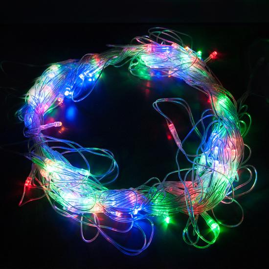 Фото №6 Праздничная гирлянда СЕТЬ мульти 1,5*1,5м IP20 300-001