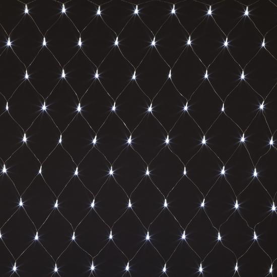 Фото №3 Праздничная гирлянда СЕТЬ белый 1,5*1,5м IP20 300-001