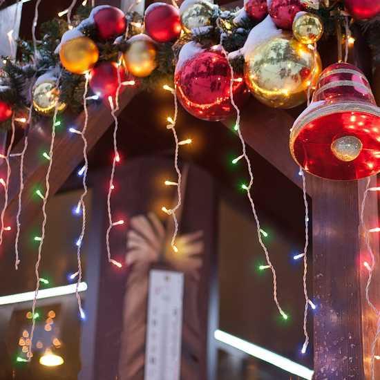 Фото №2 Праздничная гирлянда БАХРОМА мульти 1,8*0,6м IP20 100-001