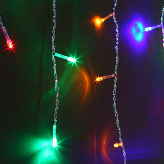 Фото №3 Праздничная гирлянда БАХРОМА мульти 1,8*0,6м IP20 100-001
