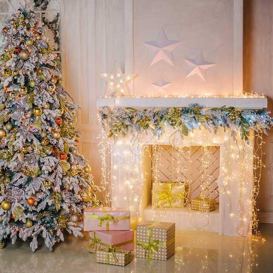 Фото №2 Праздничная гирлянда БАХРОМА белый 1,8*0,6м IP20 100-001