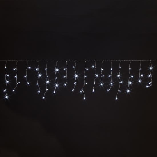 Фото №3 Праздничная гирлянда БАХРОМА белый 1,8*0,6м IP20 100-001