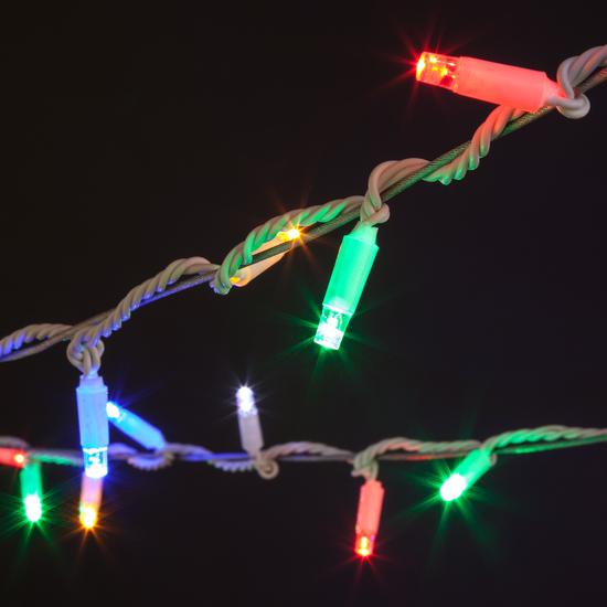 Фото №8 Новогодняя гирлянда нить мульти с эффектом мерцания 20м IP65 400-102