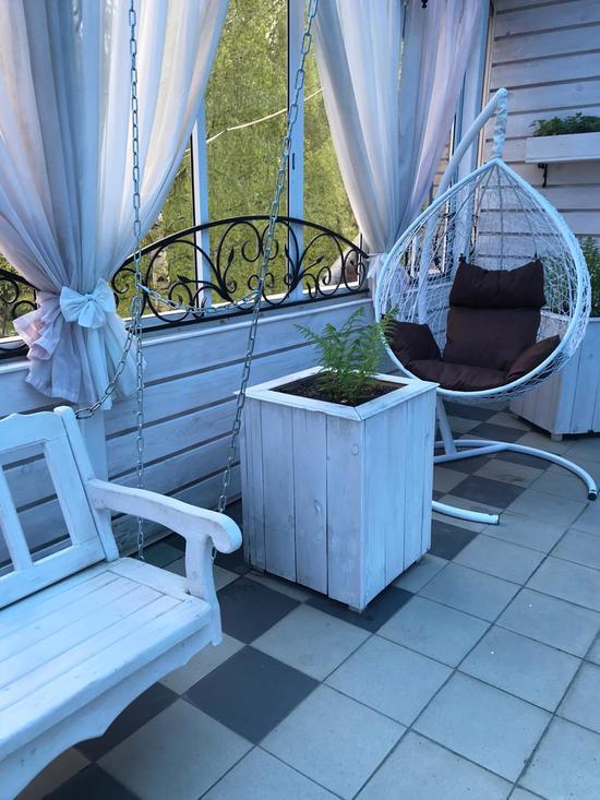 Фото №19 Подвесное кресло-кокон SEVILLA белое + каркас