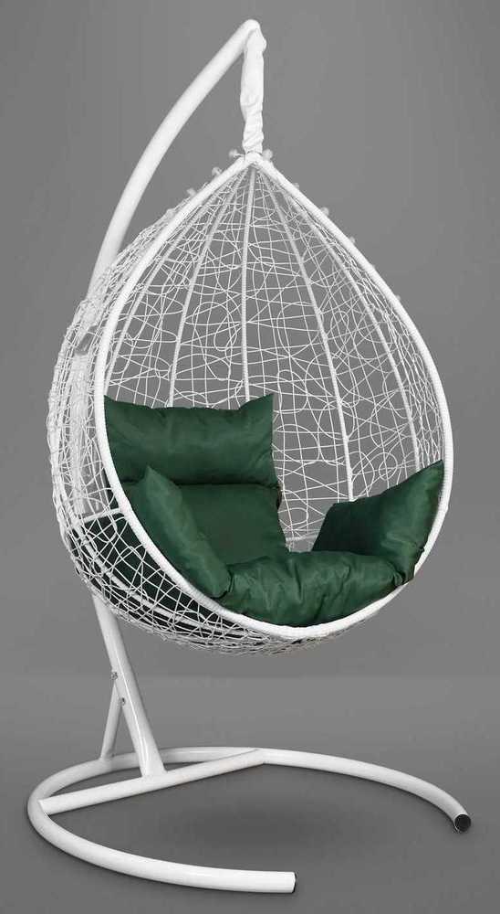 Фото №8 Подвесное кресло-кокон SEVILLA белое + каркас