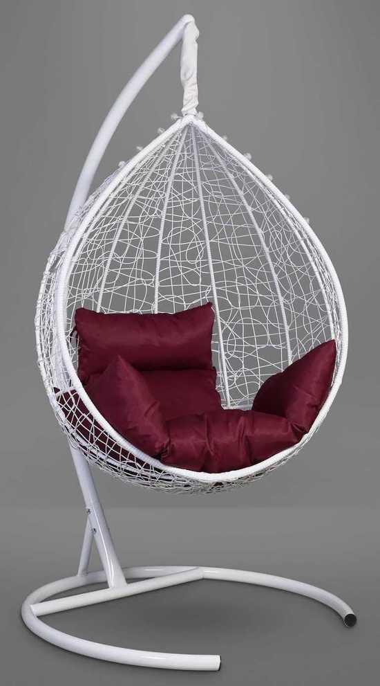Фото №4 Подвесное кресло-кокон SEVILLA белое + каркас