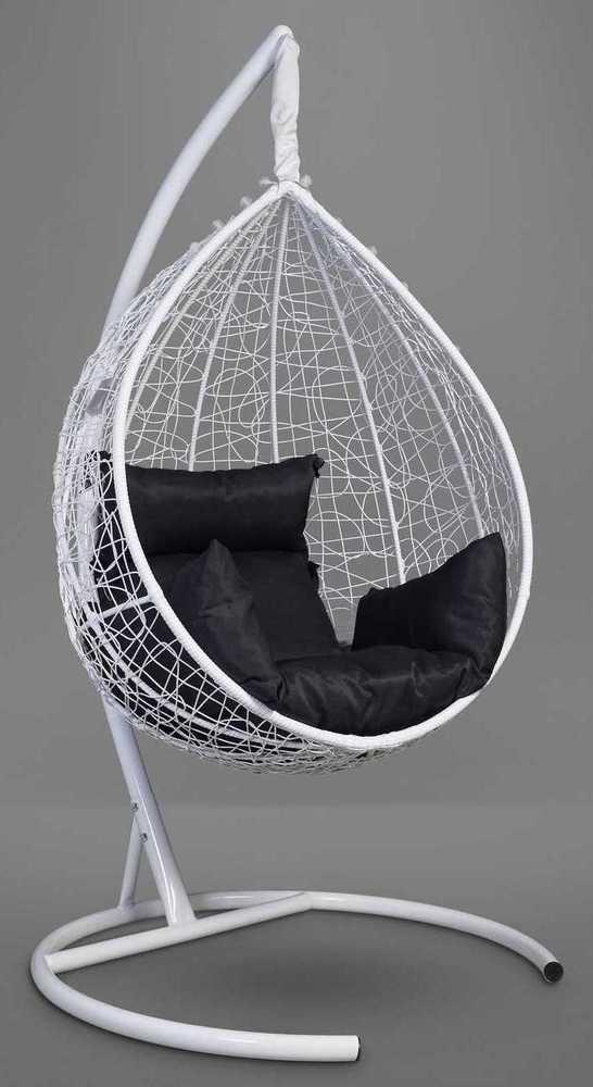 Фото №6 Подвесное кресло-кокон SEVILLA белое + каркас