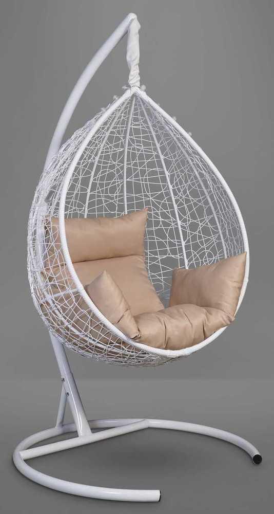 Подвесное кресло-кокон SEVILLA белое + каркас