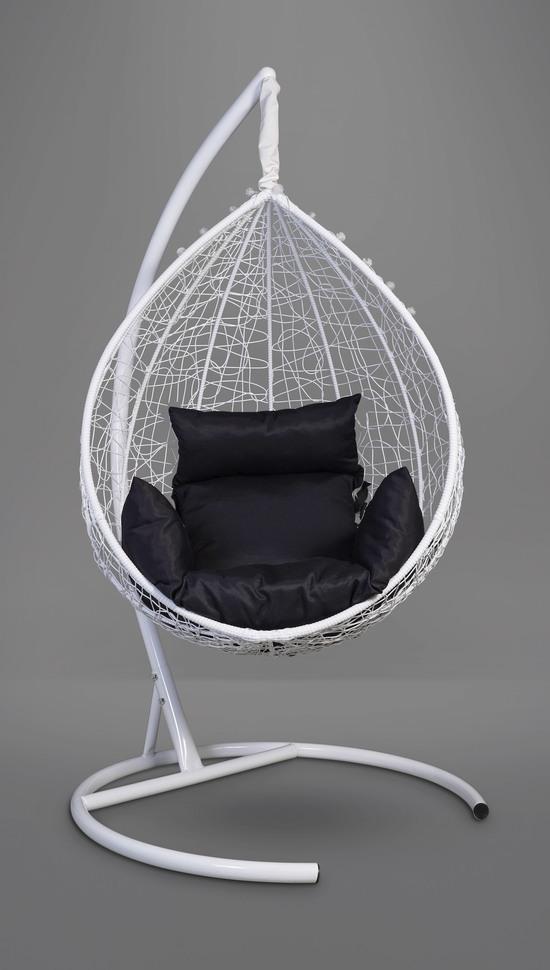 Фото №7 Подвесное кресло-кокон SEVILLA белое + каркас