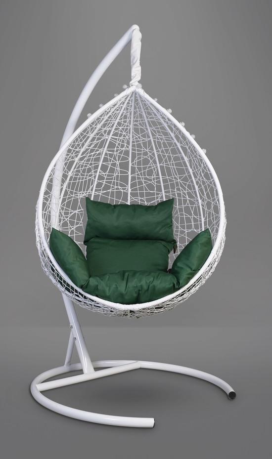Фото №9 Подвесное кресло-кокон SEVILLA белое + каркас