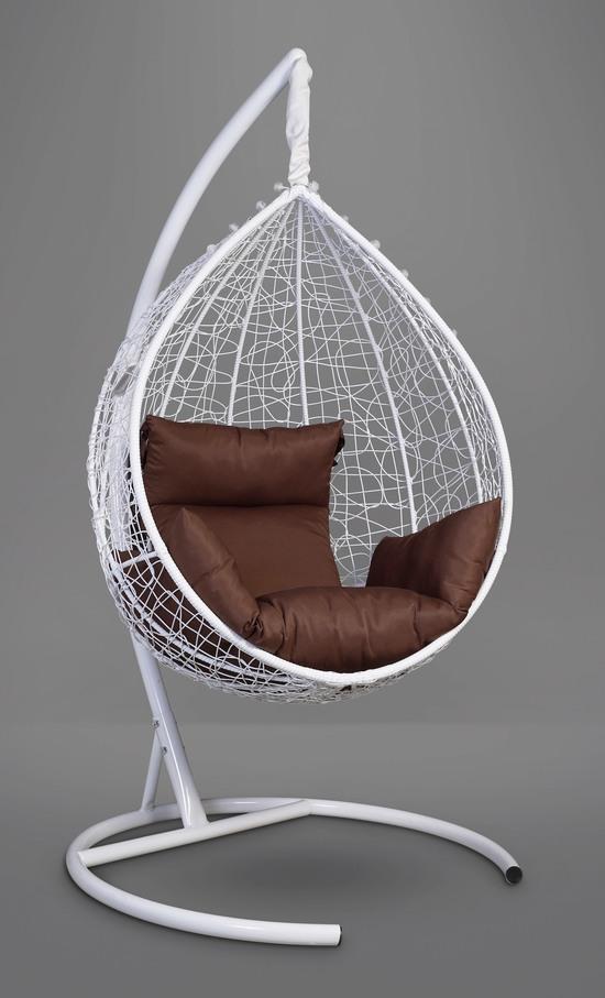Фото №10 Подвесное кресло-кокон SEVILLA белое + каркас