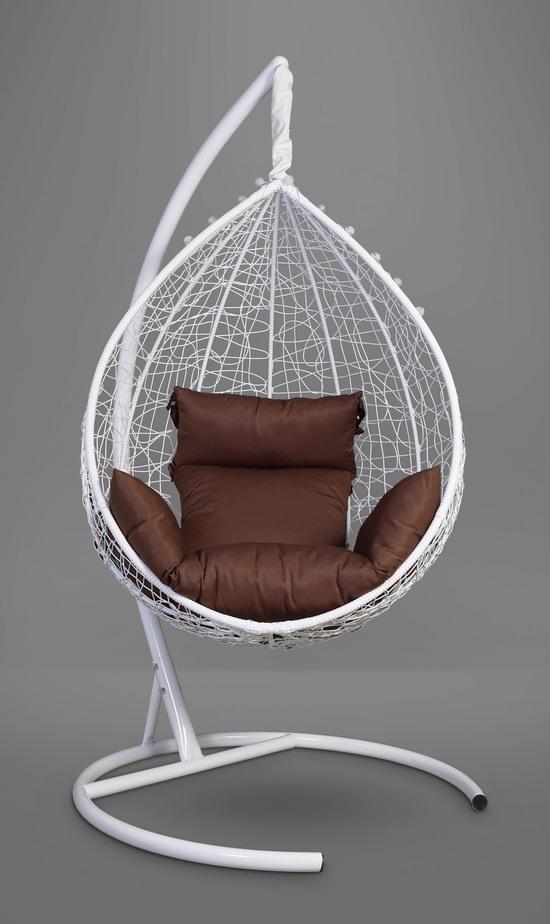 Фото №11 Подвесное кресло-кокон SEVILLA белое + каркас