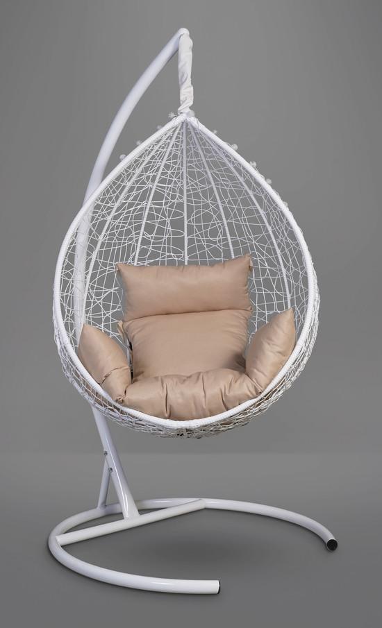 Фото №3 Подвесное кресло-кокон SEVILLA белое + каркас
