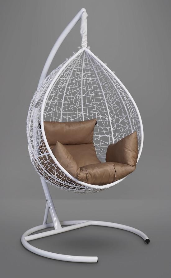 Фото №13 Подвесное кресло-кокон SEVILLA белое + каркас