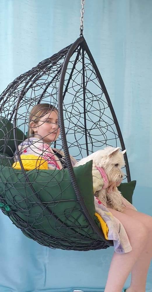 Фото №9 Подвесное кресло-кокон SEVILLA коричневое + каркас