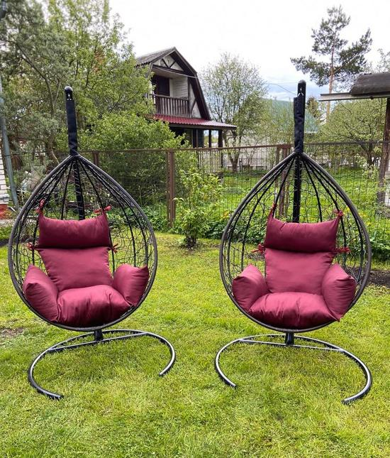 Фото №12 Подвесное кресло-кокон SEVILLA коричневое + каркас