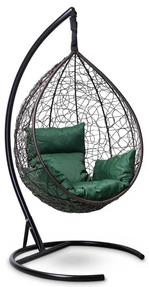 Фото №3 Подвесное кресло-кокон SEVILLA коричневое + каркас