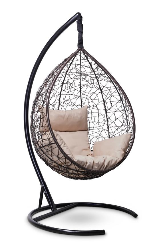 Фото №2 Подвесное кресло-кокон SEVILLA коричневое + каркас