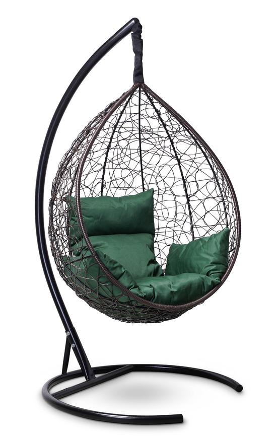 Подвесное кресло-кокон SEVILLA коричневое + каркас фото