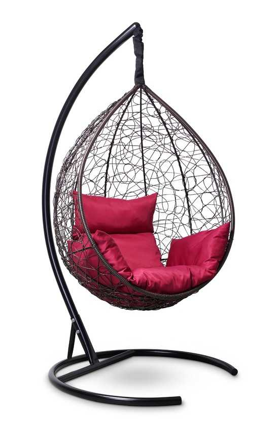 Фото №5 Подвесное кресло-кокон SEVILLA коричневое + каркас