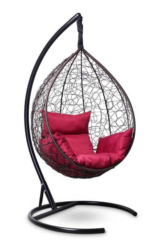 Подвесное кресло-кокон SEVILLA шоколад + каркас фото
