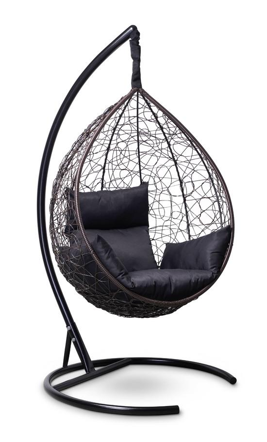 Фото №4 Подвесное кресло-кокон SEVILLA коричневое + каркас