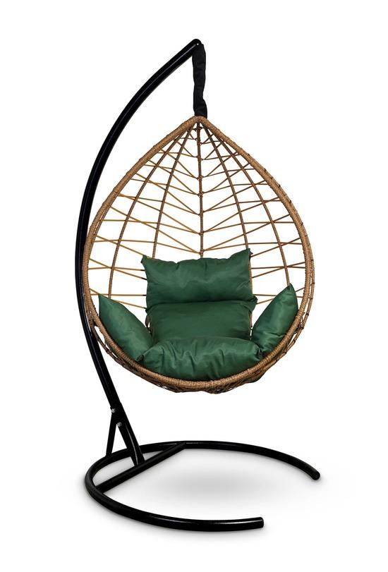 Фото №5 Подвесное кресло-кокон ALICANTE рыжий + каркас