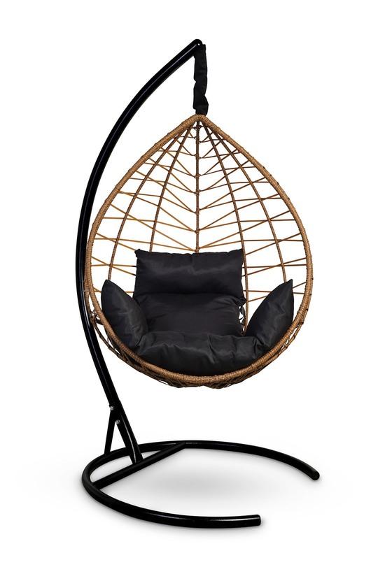 Фото №7 Подвесное кресло-кокон ALICANTE рыжий + каркас
