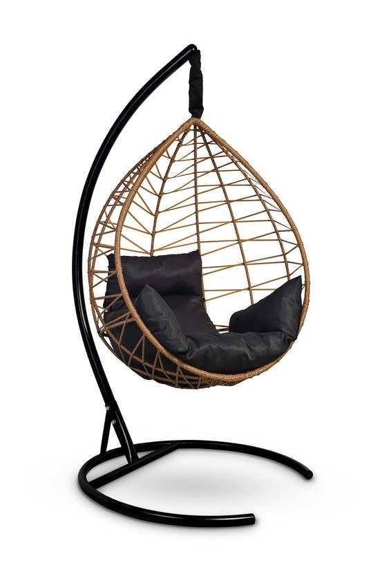 Фото №6 Подвесное кресло-кокон ALICANTE рыжий + каркас