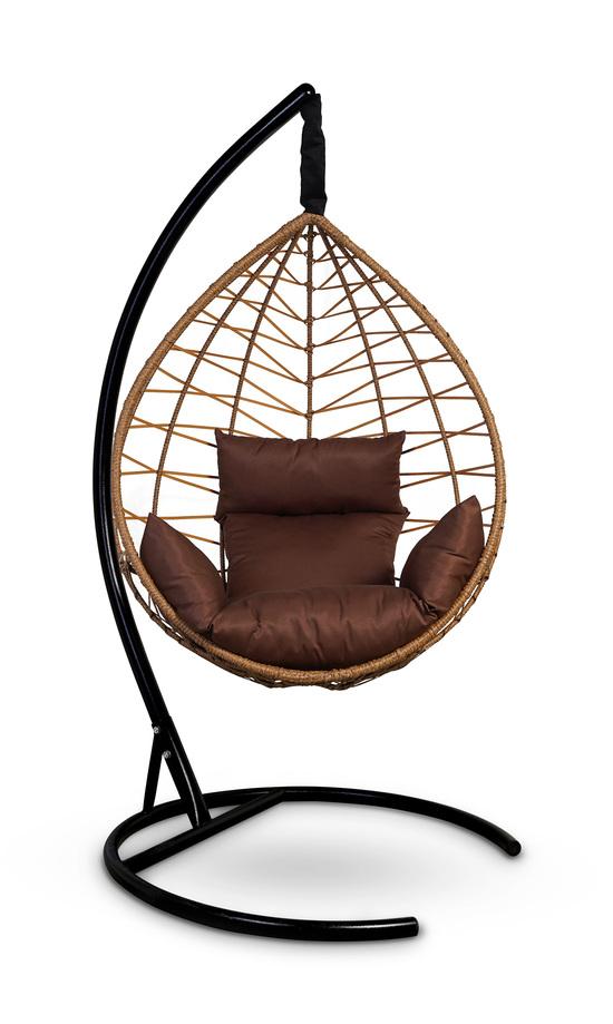 Фото №3 Подвесное кресло-кокон ALICANTE рыжий + каркас