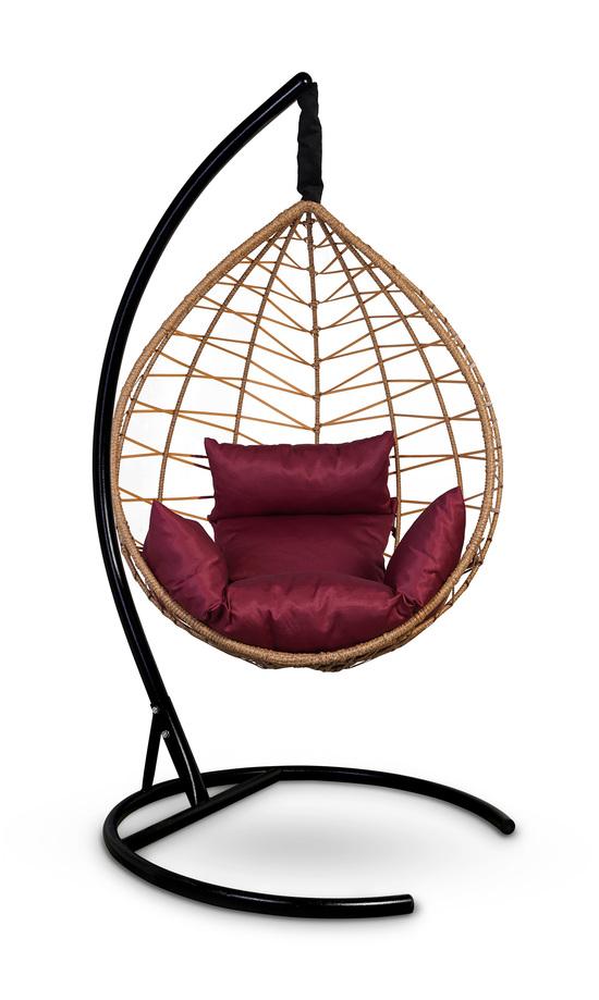 Фото №9 Подвесное кресло-кокон ALICANTE рыжий + каркас
