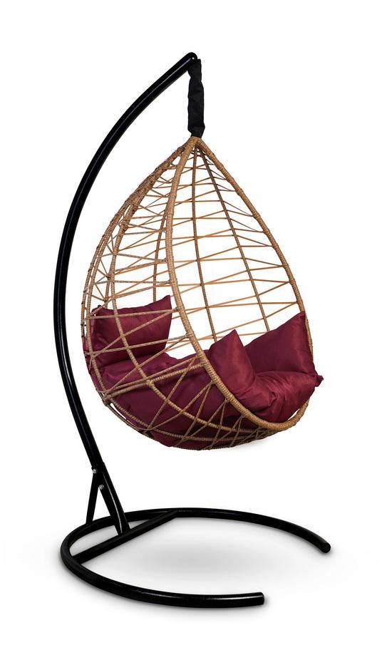 Фото №8 Подвесное кресло-кокон ALICANTE рыжий + каркас