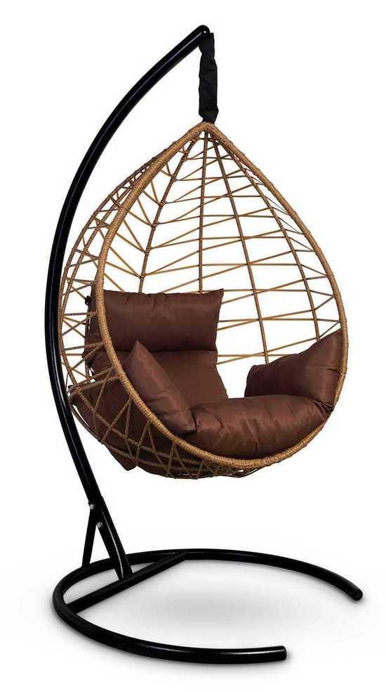 Фото №2 Подвесное кресло-кокон ALICANTE рыжий + каркас