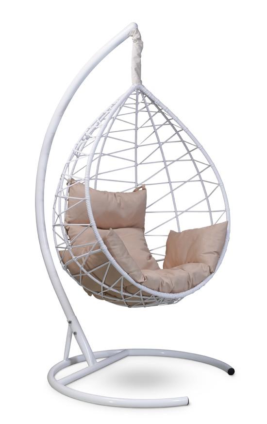 Фото №3 Подвесное кресло-кокон ALICANTE белое + каркас