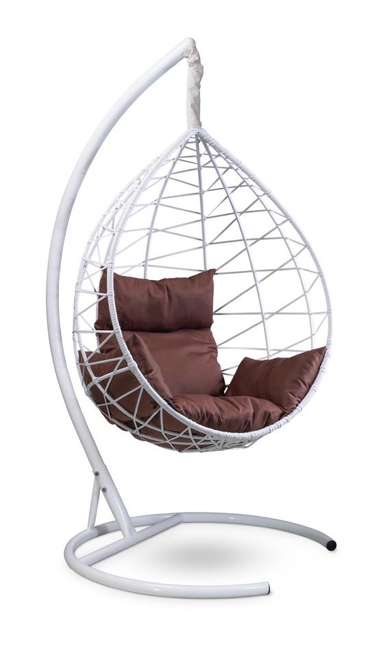 Фото №4 Подвесное кресло-кокон ALICANTE белое + каркас