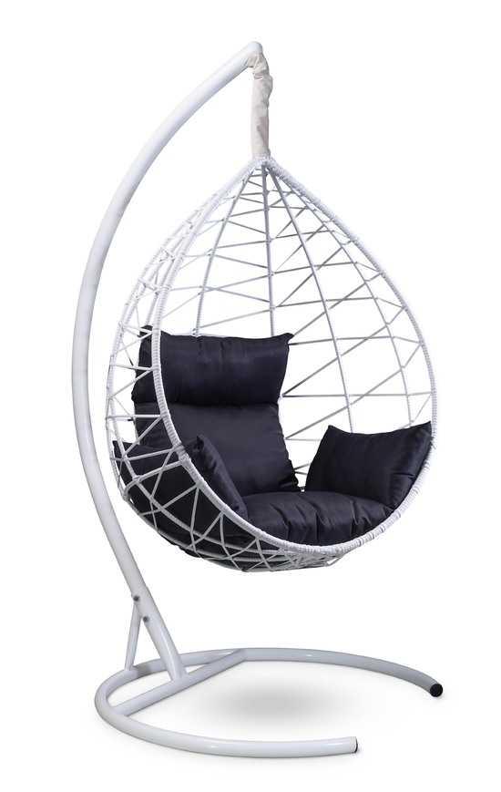 фото Подвесное кресло-кокон ALICANTE белое + каркас